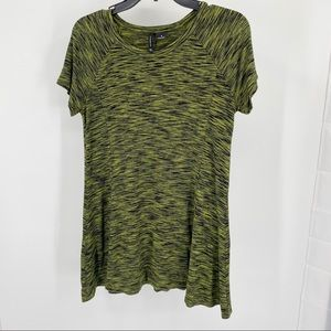 New Directions Green/Black Pullover Top Size M